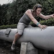 Sarah on the torpedo
