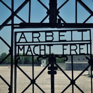 Gate to Dachau concentration camp