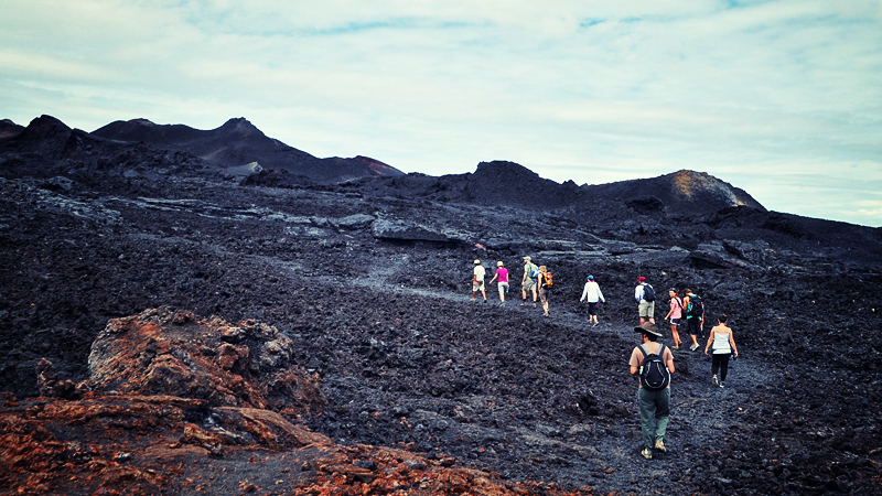 Hiking the Volcano in Isabella