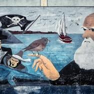 Charles Darwin's mural in Santa Cruz