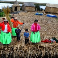 Greeted by the residents of Los Uros