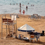 Lifeguard at the Dead Sea