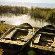 Boats by Lake Ohrid