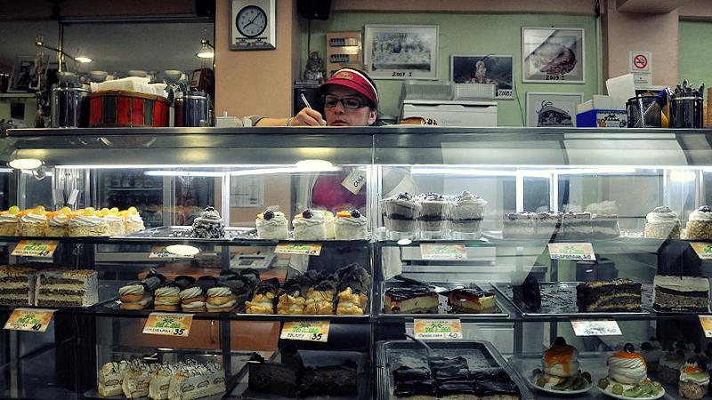 Cake shop in Ohrid